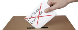 end of One share - one vote
